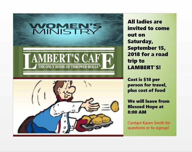 WLM Trip to Lambert's Cafe